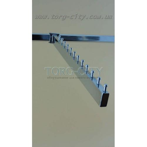 Флейта   10 Шаров  45 см на перекладину   прямоугольная,  хромированная Китай