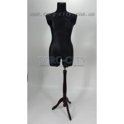 Манекен 46 р.Пошиво -выставочный  брючный  белый , черный  на деревянной ноге Польша