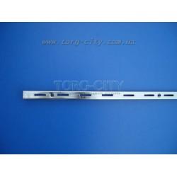 Направляющая рейка одинарная, хромированная 200 см, шаг 50 мм Китай