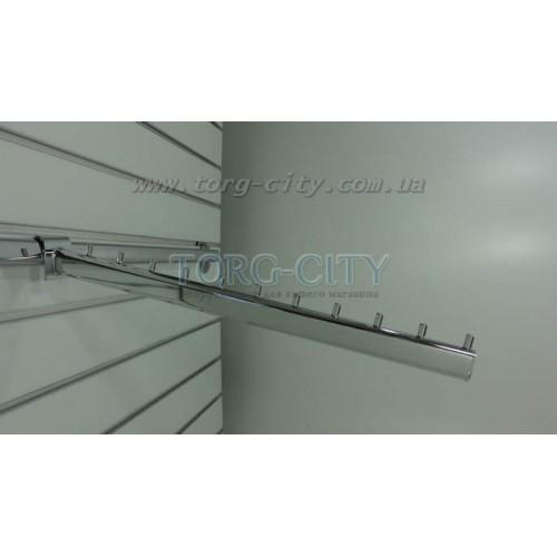 Флейта  10 Гвоздиков 45 см на перекладину  овал , хромированная Китай