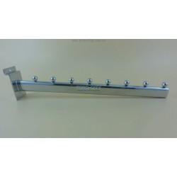 Флейта в  8 шариков,  40 см э\панель , хромированная Китай