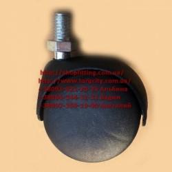 Колесо с резьбой  штифт 10 мм, пластик