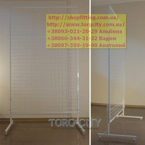 Стойка сетка 150х100 см_c ногами_в профиле 15х15 мм_прут 2.5 мм