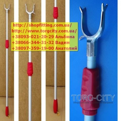 Съемник вешалок Красный-усиленный  90-145 см