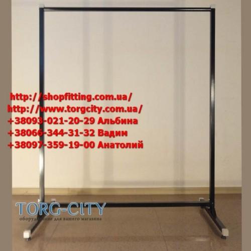 Cтойка 1-я     длина -100 см, выс.- 130 см,  d-25 мм, черная