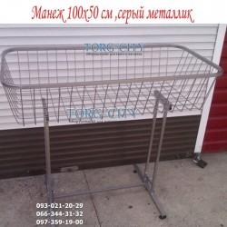 корзина  Распродажная 50х100см, высота 90 см, металлик
