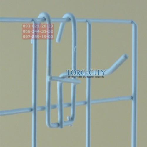 Крючки   м\пластик  5 см прут-3.4 мм  на сетку, Китай