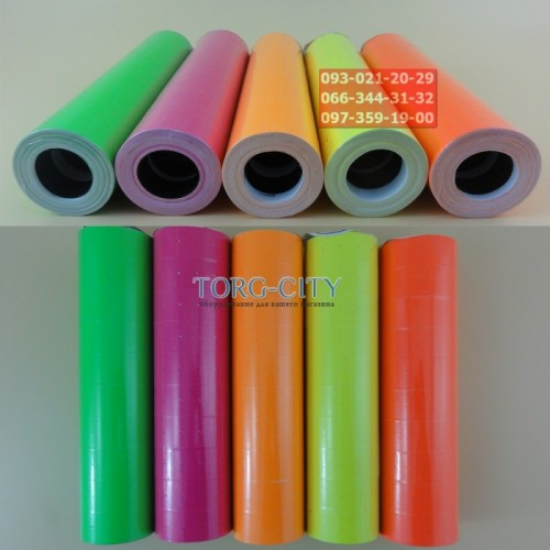 Лента  для ценников, цветная 6000 шт. уп. 21x12 мм
