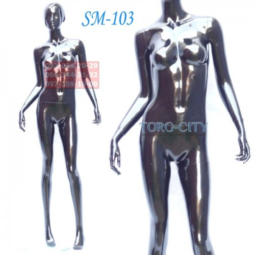 манекен  Женский  Фотосессия SM-103  черный глянец, мультяшка