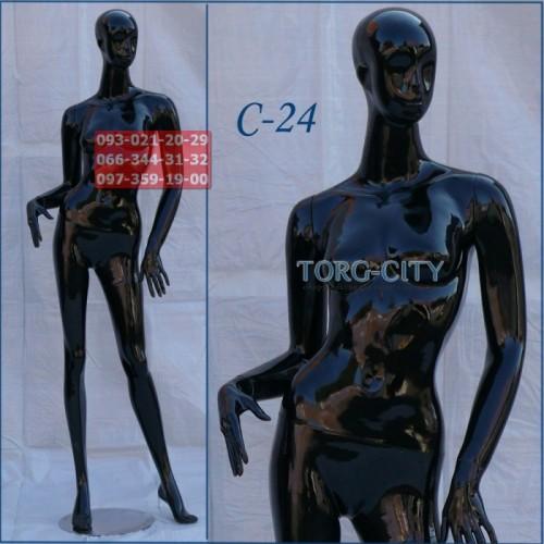манекен Женский  Фотосессия С-24  черный глянец