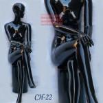 манекен Женский Фотосессия СН-22 или  W-5 L-4 w  черный, сидячий