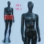 манекен Женский  VE-3  черный, белый, серый - металлик, красный