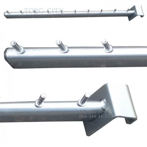 Флейта 10 гвоздиков    на стойку 45 см, Серый-металлик,Украина