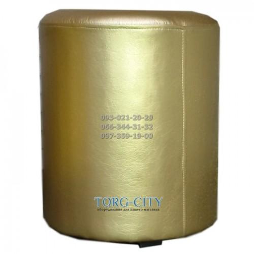 Пуф 35х35х40  золото,серебро и другие элит цвета, кожзам дорогой