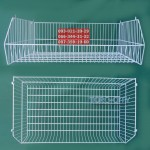 Металлическая корзина для овощей - 94 х 55 х 33 см, белая (под заказ)