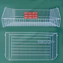 Металлическая корзина для овощей - 94 х 55 х 33 см, белая