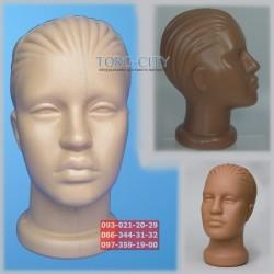 манекен    Голова  женская    пластик d-49.5