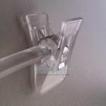 Плічки Вішачки  для Нижньої Білизни з Прищіпками Коромисло  прозорі 26 см Польща