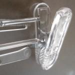 Вешалка с прищепками прямая, прозрачная  26 см