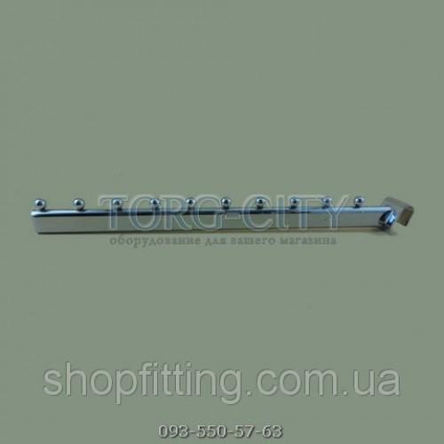 Флейта 10 Шаров  40 см на перекладину  овал , хромированная Китай