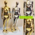Манекен хром и золото W-6  ,элитная серия