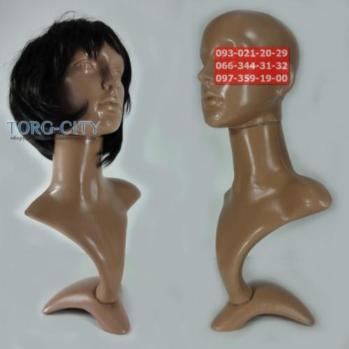 Манекен голова Европейская С Бюстом, Пластиковая
