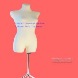 Манекен  46 размер Пошиво - выставочный  брючный  белый  на хром ноге Польша