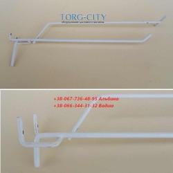 Крючок 1-й для перфорации 150 мм с ценникодержателем ,прут 5 мм (под заказ)