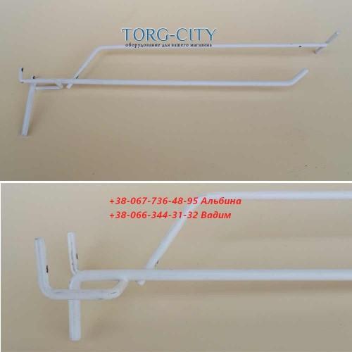 Крючок 1-й для перфорации 350 мм с ценникодержателем ,прут 5 мм (под заказ)