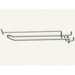 Крючок 2-й для перфорации 150 мм с ценникодержателем ,прут 5 мм (под заказ)
