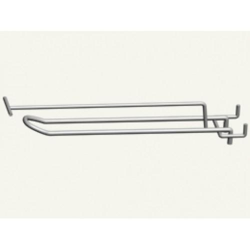 Крючок 2-й для перфорации 350 мм с ценникодержателем ,прут 5 мм