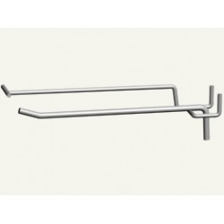Крючок 1-й для перфорации 250 мм с ценникодержателем ,прут 5 мм (под заказ)