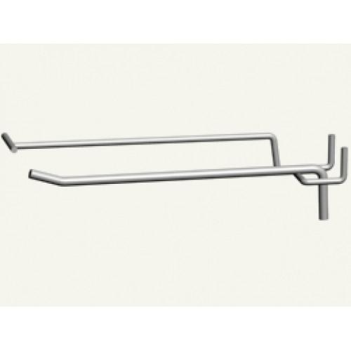 Крючок 1-й для перфорации 200 мм с ценникодержателем ,прут 5 мм (под заказ)