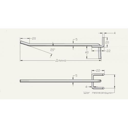 Одинарный для перфорации дл.- 250 мм ,прут 5 мм (2-3 дня)
