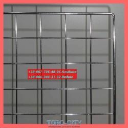 Сетка 150х100 см. Клетка 5х5 см, Прут-5.0/3.0 мм. Хром