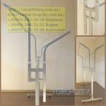 стойка   Книжка Новая    длина 150 см  , серый- металлик