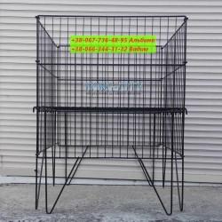 Корзина  распродажная раскладная 60х60 см, черная (под заказ)