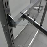 Перекладина 120 см   квадрат 20х30 мм , в рейку ,шаг 50 мм ,серый-металлик  , белая Украина