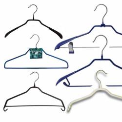 Вішачки  Плічки Залізні в Силіконі для одягу