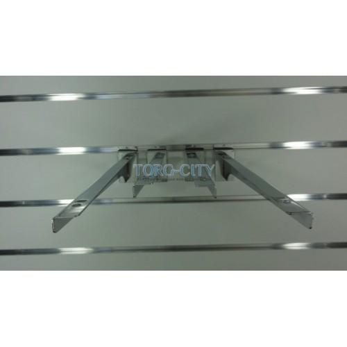 Полкодержатель 35 см  э\панель, хромированный Китай
