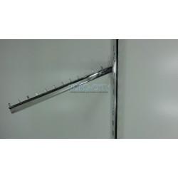 Флейта 12 гвоздиков, 45 см  в рейку  овал  , хромированная Китай
