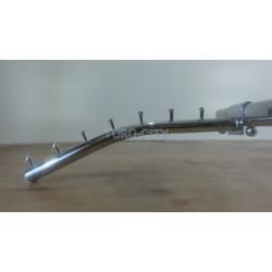 Флейта  7 гвоздиков   30 см труба  на перекладину  ,хромированная Китай