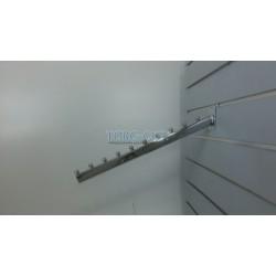 Флейта 10 шариков, 45 см  э\панель , с черной заглушкой ,хромированная Китай