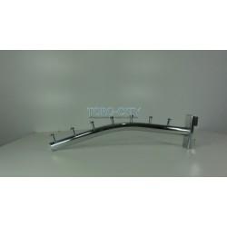 Флейта  7 гвоздиков  30 см труба в рейку  , хромированная Китай