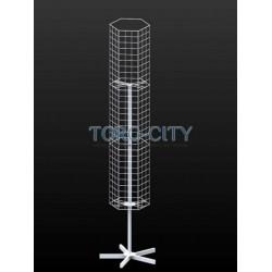 Вертушка 6 гранная -сетка, серый металлик (под заказ)