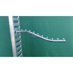Флейта 10 шариков, 45 см. труба на сетку, хром