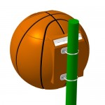 "Уличная урна SPORT ""Баскетбольный мяч"" под заказ"